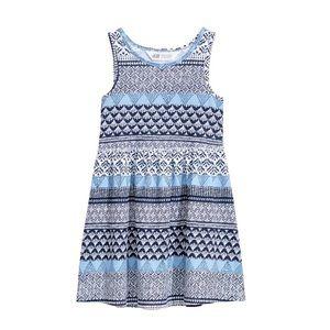NWT H&M Blue Sleeveless Jersey Summer Dress 2-4Y
